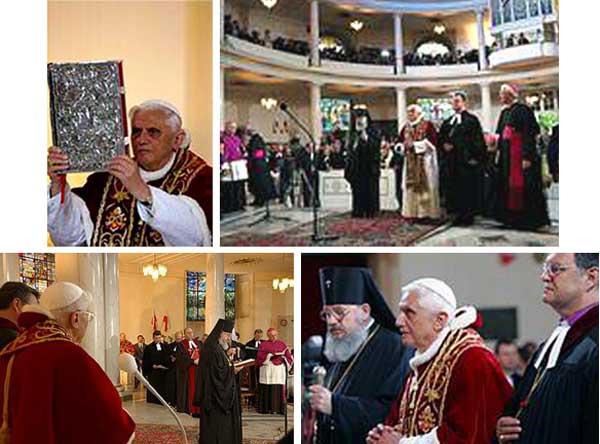Bento XVI com cismáticos e protestantes