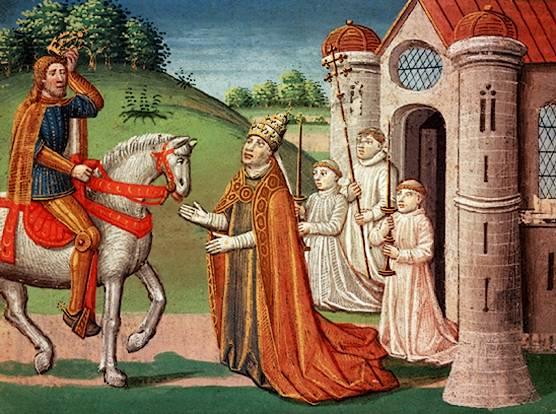 Charlemogne and the Pope Adrian I