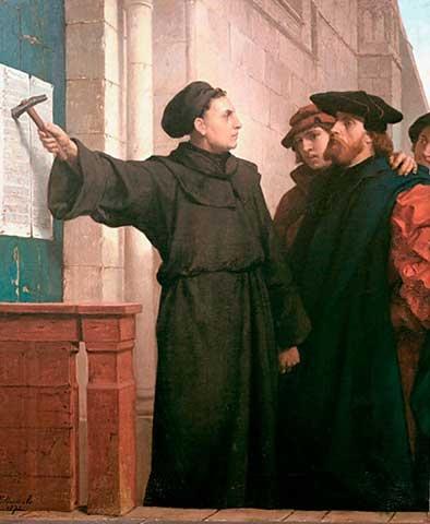 Lutero pregando as 95 teses