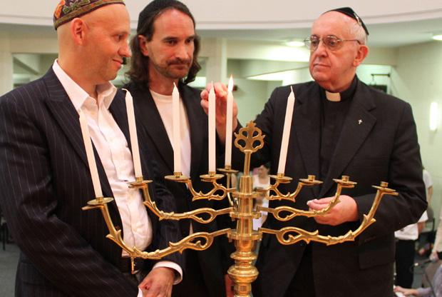 Francisco com os judeus