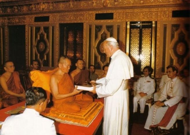 João Paulo II com os budistas
