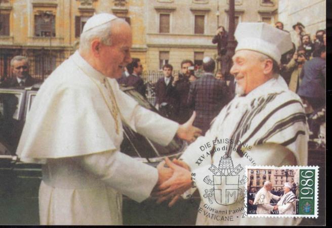João Paulo II em visita a Sinagoga de Roma