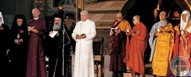 João Paulo II no encontro de Assis