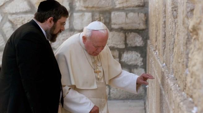 João Paulo II no muro das lamentações