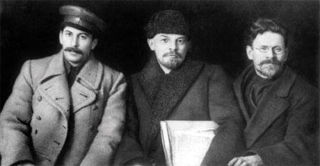 Lenin, Stalin e Trostsky