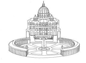A Basílica e a Praça de São Pedro do Vaticano