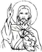 Sagrado Coração de Jesus abençoa e sustenta o mundo