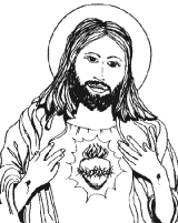 Sagrado Coração de Jesus exposto