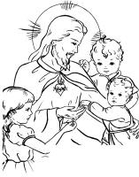 Sagrado Coração de Jesus com as crianças