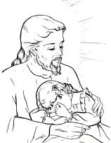 Sagrado Coração de Jesus consola o menino que chora