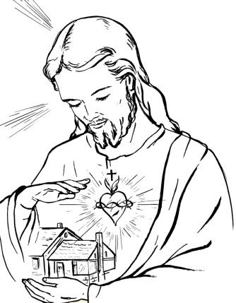 Sagrado Coração de Jesus abençoando