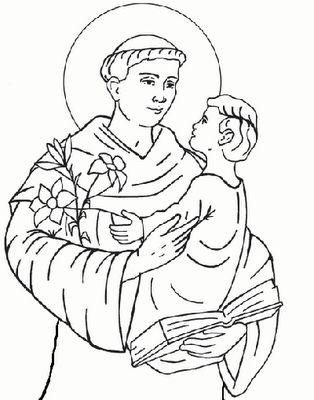 Santo Antônio de Pádua com o menino Jesus no colo II