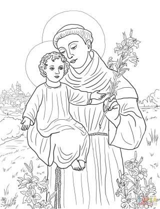 Santo Antônio de Pádua com o menino Jesus no colo III