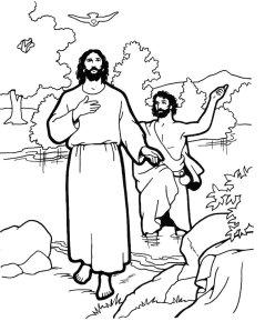 Nosso Senhor com São João Batista no rio Jordão
