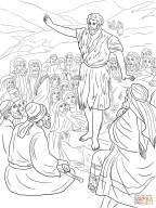 São João Batista pregando ao povo