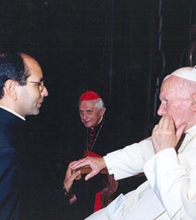 Padre Paulo Ricardo com Wojtyla e Ratzinger