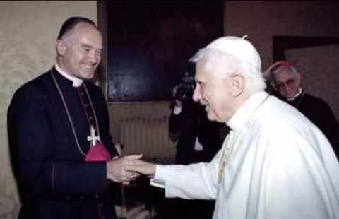 Bernard Fellay com Bento XVI