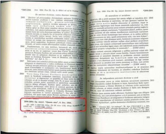 Denzinger 1965 liberdade religiosa 1