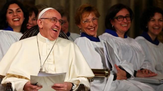 Francisco com os anglicanos
