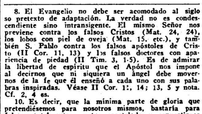Gálatas c 1 v 8